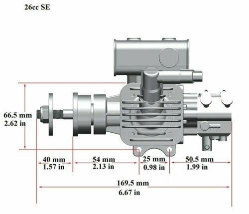 Image 5 of RCGF 26cc SE Gas Engine Beam Mount Version