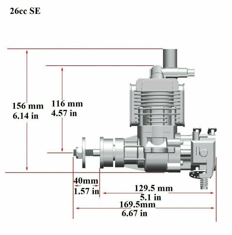 Image 6 of RCGF 26cc SE Gas Engine Beam Mount Version