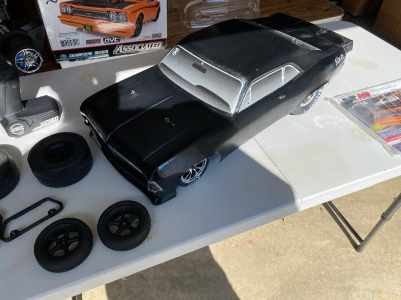 Image 0 of DR10 Drag Race Car, 1/10 Brushless 2WD RTR, Orange w/extra bodies