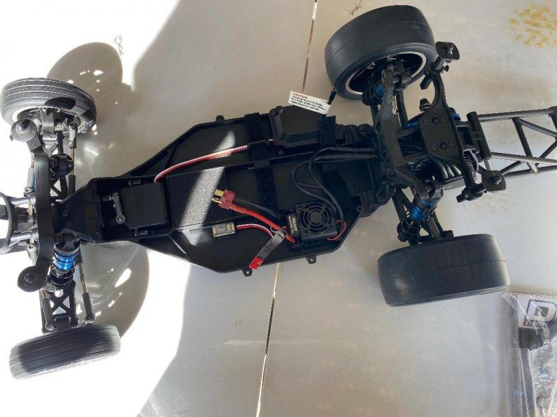 Image 7 of DR10 Drag Race Car, 1/10 Brushless 2WD RTR, Orange w/extra bodies