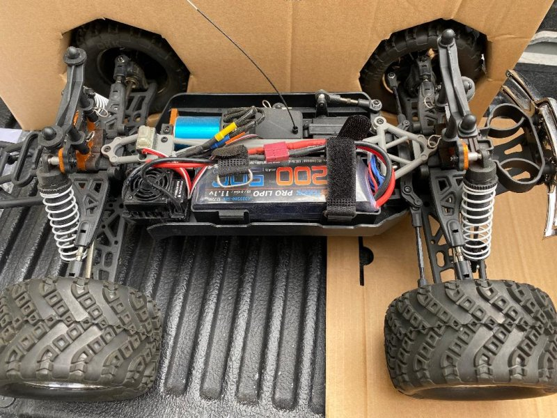 Image 1 of Crosse Brushless 1/10 4WD Monster Truck, Ready To Run, with Battery
