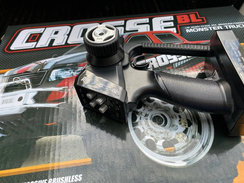 Image 2 of Crosse Brushless 1/10 4WD Monster Truck, Ready To Run, with Battery