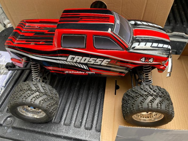 Image 0 of Crosse Brushless 1/10 4WD Monster Truck, Ready To Run, with Battery