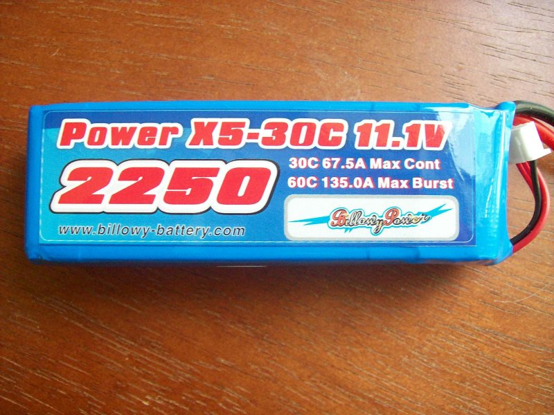 Image 1 of 2250mah 11.1volt 30c 3 cell lithium polymer