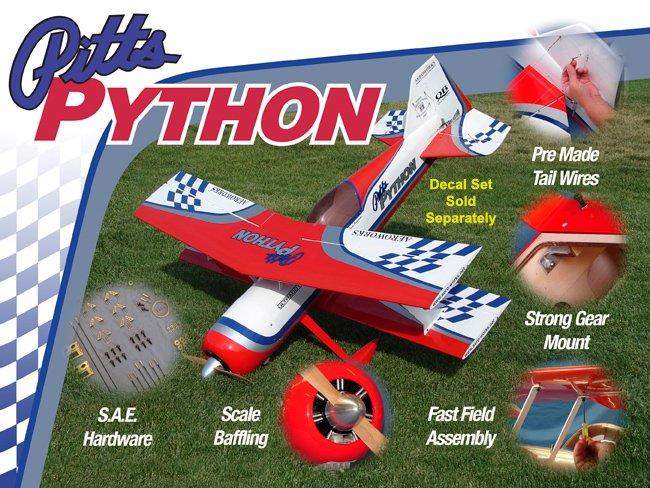 Image 1 of Aeroworks 50cc Pitts Python ARF-QB
