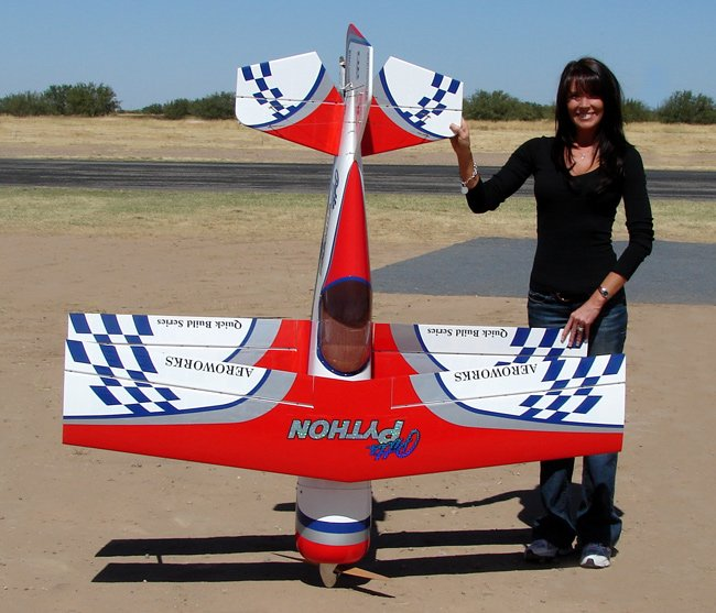 Image 2 of Aeroworks 50cc Pitts Python ARF-QB