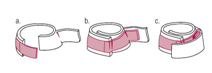 This overlapping does not compromise the integrity of the gaiter. When properly tightened, it should be difficult to fit a finger between the pastern and the top of the gaiter.  Due to their great de