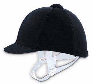 Velvet Hunt Cap with Clear Detachable Harness