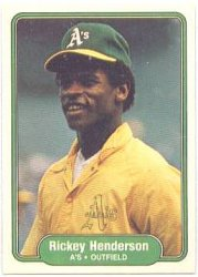 Thumbnail of 1982-Rickey Henderson-Fleer-92-Baseball Card