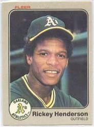 Thumbnail of 1983-Rickey Henderson-Fleer-519-Baseball Card
