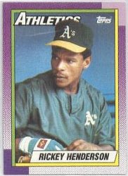 Thumbnail of 1990-Rickey Henderson-Topps-450-Baseball Card