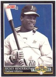 Thumbnail of 1991-Rickey Henderson-Score-The Franchise-857-Baseball Card