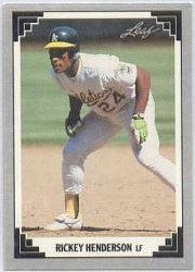 Thumbnail of 1991-Rickey Henderson-Leaf-101-Baseball Card
