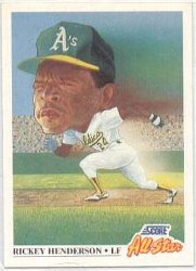 Thumbnail of 1991-Rickey Henderson-Score-All Star-397-Baseball Card