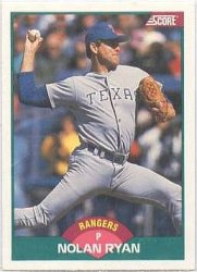 Thumbnail of 1989-Nolan Ryan-Score-Rookie Traded-2T-Baseball Card