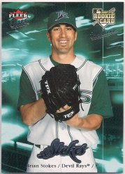 Thumbnail of 2007-Brian Stokes-Ultra-236-RC-Baseball Card
