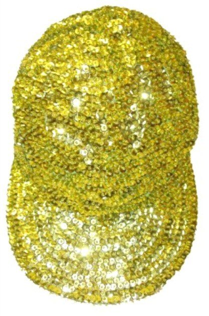 Image 0 of Sequin Baseball Cap Lime Green
