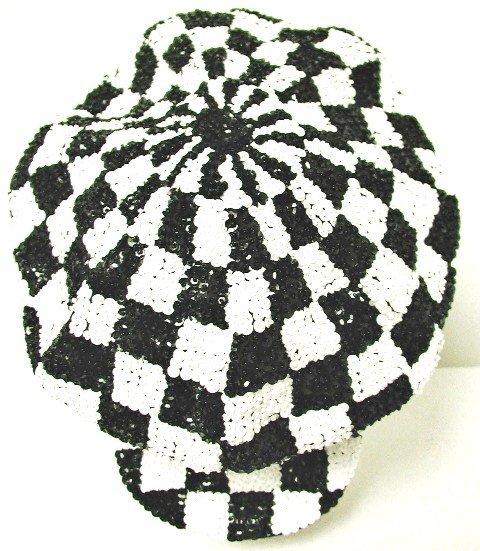 Image 0 of Sequin Brando Cap Black & White Checkered (HAT03)