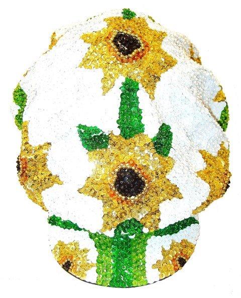Image 0 of Sequin Brando Cap Sunflower White (HAT03)