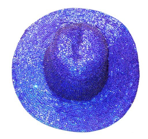 Image 0 of Sequin Cowboy Hat Royal Blue