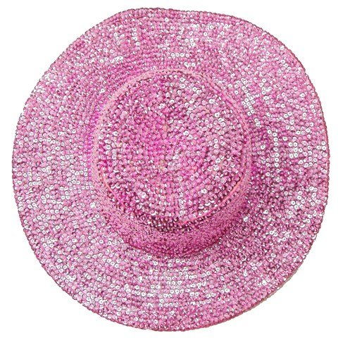 Image 0 of Sequin Cowboy Hat Lite Pink