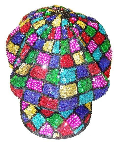 Image 0 of Sequin Brando Cap Mosaic Square (HAT03)