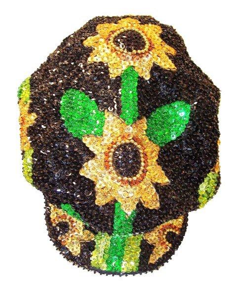 Image 0 of Sequin Brando Cap Sunflower Black (HAT03)