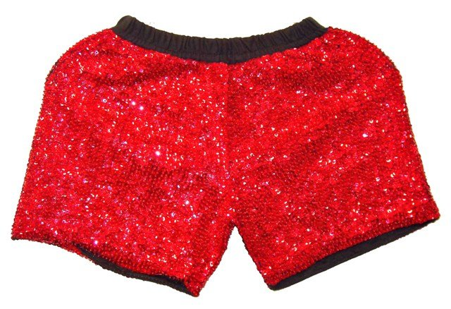 Image 0 of Sequin Short Red