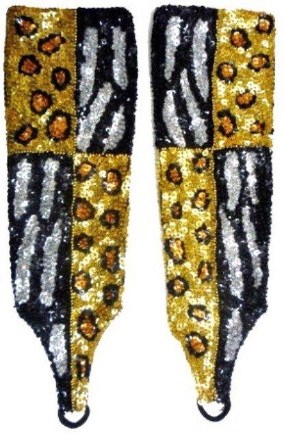 Image 0 of Sequin Gloves Tiger/Leopard