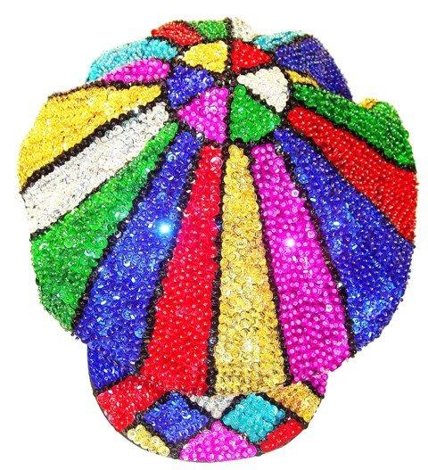 Image 0 of Sequin Brando Cap Mosaic Rainbow (HAT03)