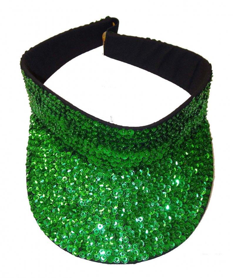 Image 0 of Sequin Visor Emerald Green