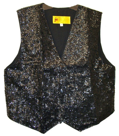 Image 0 of Sequin Vest Black