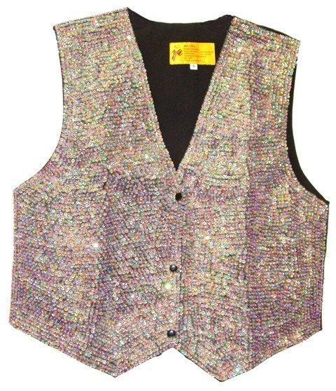 Image 0 of Sequin Vest Opal Purple