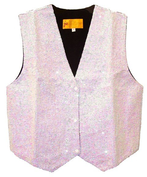 Image 0 of Sequin Vest Opal White