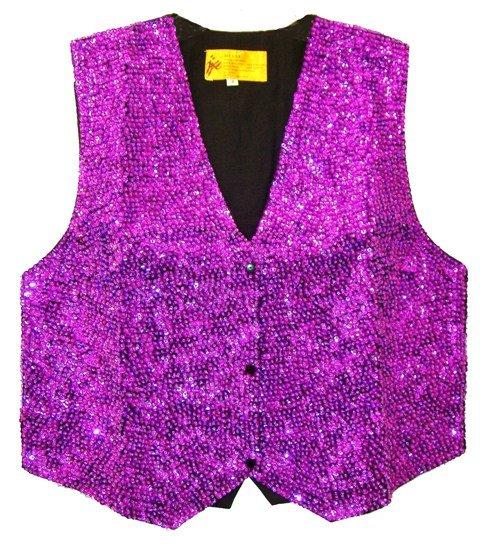 Image 0 of Sequin Vest Purple