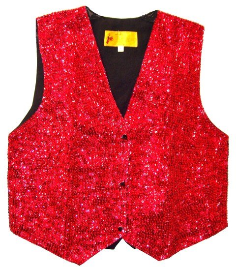 Image 0 of Sequin Vest RED