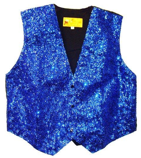 Image 0 of Sequin Vest ROYAL BLUE