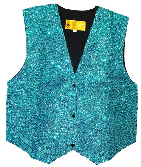 Image 0 of Sequin Vest Turquoise