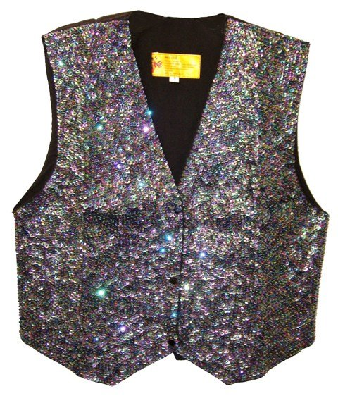 Image 0 of Sequin Vest Peacock