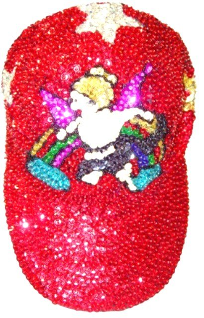 Image 0 of Sequin Baseball Cap Red Angel