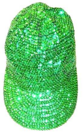 Image 0 of Sequin Baseball Cap Emerald Green