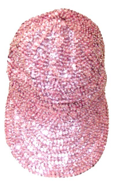 Image 0 of Sequin Baseball Cap Lite Pink