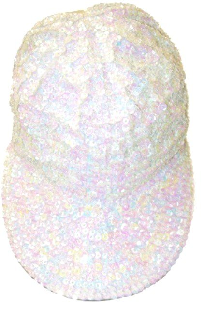 Image 0 of Sequin Baseball Cap Opal White