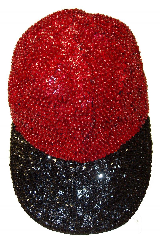 Image 0 of Sequin Baseball Cap Red/Black