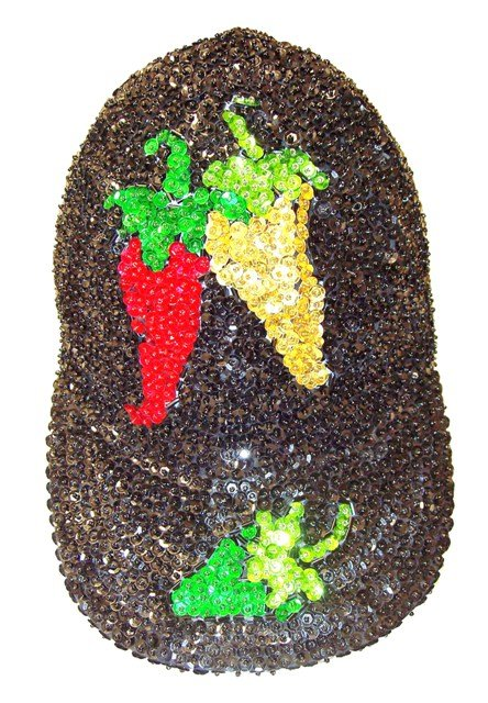 Image 0 of Sequin Baseball Cap Flying Chillies