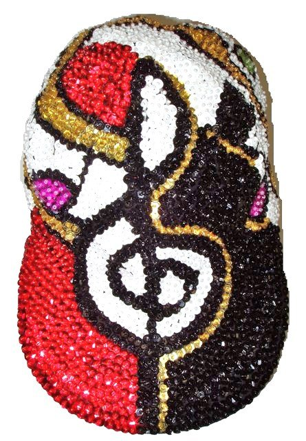 Image 0 of Sequin Baseball Cap Swing Time