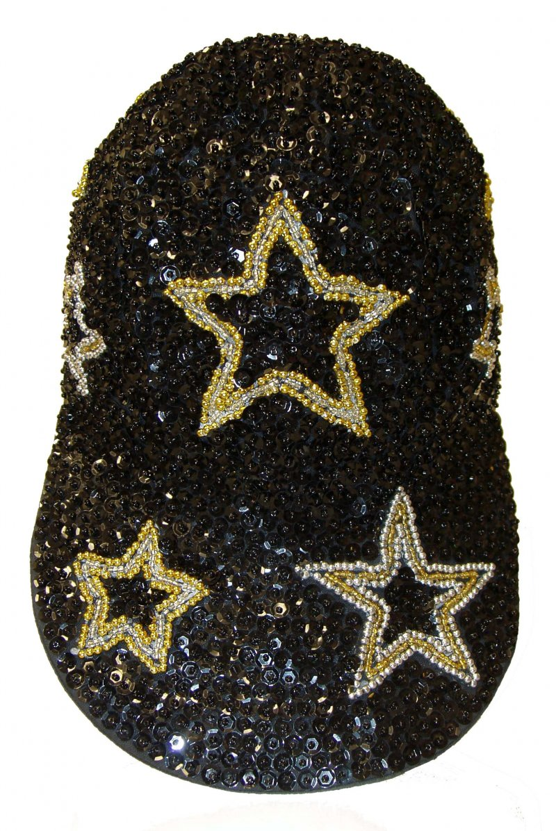 Image 0 of Sequin Baseball Cap Starry Nights