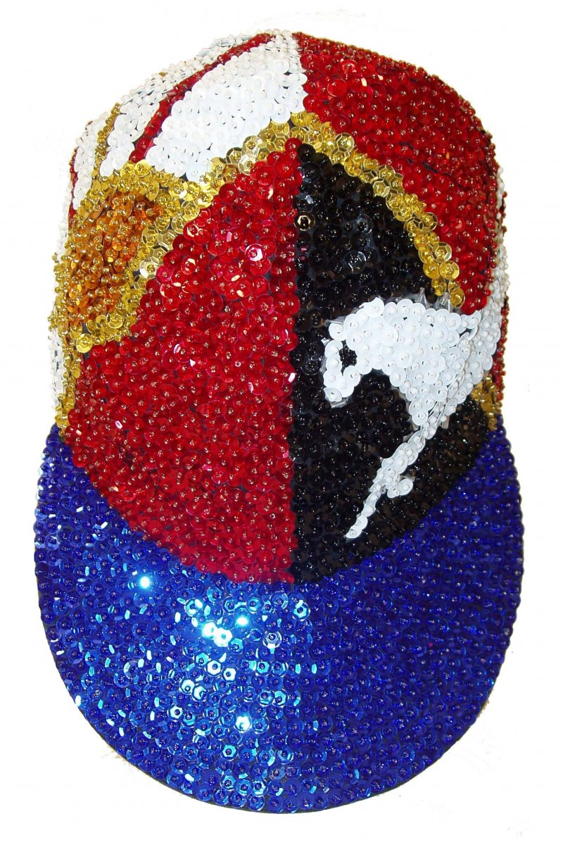 Image 0 of Sequin Baseball Cap Texas Round Up