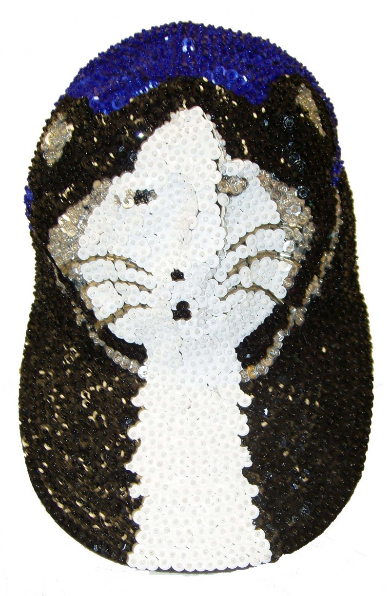 Image 0 of Sequin Baseball Cap Fancy Felines