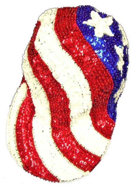Image 0 of Sequin Baseball Cap USA Wavy Style